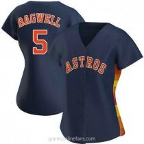 Womens Jeff Bagwell Houston Astros #5 Replica Navy Alternate A592 Jersey