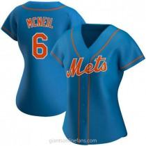 Womens Jeff Mcneil New York Mets #6 Authentic Royal Alternate A592 Jerseys