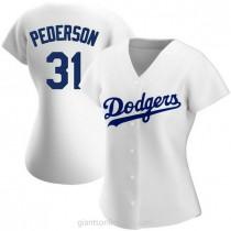 Womens Joc Pederson Los Angeles Dodgers #31 Authentic White Home A592 Jersey