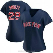 Womens John Smoltz Boston Red Sox #29 Authentic Navy Alternate A592 Jerseys