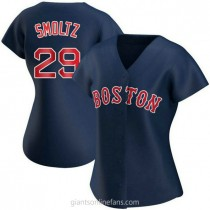 Womens John Smoltz Boston Red Sox Replica Navy Alternate A592 Jersey