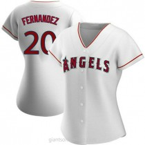 Womens Jose Fernandez Los Angeles Angels Of Anaheim #20 Authentic White Home A592 Jersey