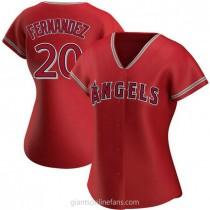 Womens Jose Fernandez Los Angeles Angels Of Anaheim #20 Replica Red Alternate A592 Jersey