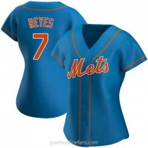 Womens Jose Reyes New York Mets #7 Authentic Royal Alternate A592 Jersey