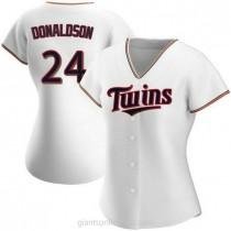 Womens Josh Donaldson Minnesota Twins #24 Authentic White Home A592 Jersey