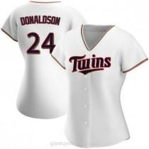 Womens Josh Donaldson Minnesota Twins Replica White Home A592 Jersey
