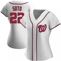 Womens Juan Soto Washington Nationals #22 Authentic White Home A592 Jersey