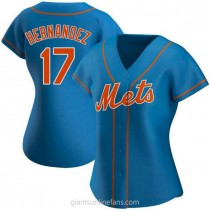 Womens Keith Hernandez New York Mets #17 Authentic Royal Alternate A592 Jersey