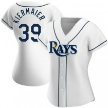Womens Kevin Kiermaier Tampa Bay Rays #39 Authentic White Home A592 Jersey