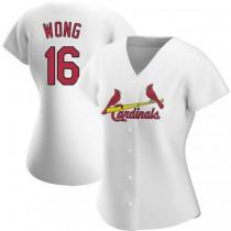 Womens Kolten Wong St Louis Cardinals #16 White Home A592 Jersey Replica