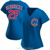 Womens Kyle Hendricks Chicago Cubs #28 Authentic Royal Alternate A592 Jerseys