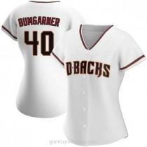 Womens Madison Bumgarner Arizona Diamondbacks #40 Replica White Home A592 Jerseys