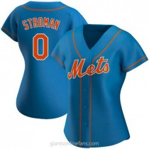 Womens Marcus Stroman New York Mets 0 Authentic Royal Alternate A592 Jersey