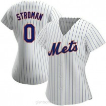 Womens Marcus Stroman New York Mets 0 Authentic White Home A592 Jersey