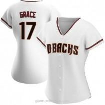 Womens Mark Grace Arizona Diamondbacks #17 Authentic White Home A592 Jersey