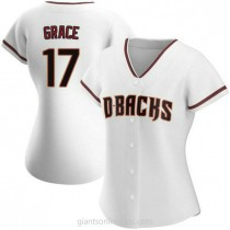 Womens Mark Grace Arizona Diamondbacks #17 Replica White Home A592 Jerseys