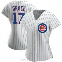 Womens Mark Grace Chicago Cubs #17 Replica White Home A592 Jerseys