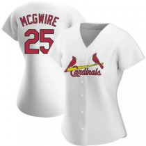 Womens Mark Mcgwire St Louis Cardinals #25 White Home A592 Jersey Authentic