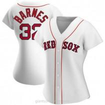 Womens Matt Barnes Boston Red Sox Authentic White Home A592 Jersey