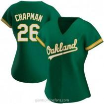 Womens Matt Chapman Oakland Athletics #26 Replica Green Kelly Alternate A592 Jersey