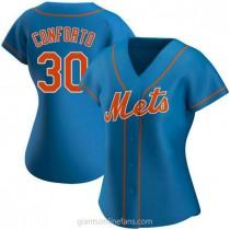 Womens Michael Conforto New York Mets #30 Replica Royal Alternate A592 Jersey