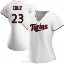 Womens Nelson Cruz Minnesota Twins #23 Replica White Home A592 Jerseys