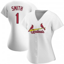Womens Ozzie Smith St Louis Cardinals #1 White Home A592 Jerseys Authentic