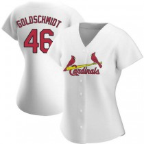 Womens Paul Goldschmidt St Louis Cardinals #46 Gold White Home A592 Jersey Replica