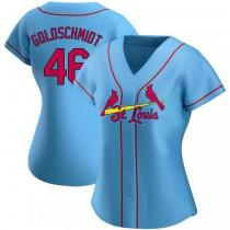 Womens Paul Goldschmidt St Louis Cardinals #46 Light Blue Alternate A592 Jerseys Authentic