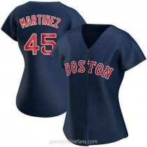 Womens Pedro Martinez Boston Red Sox #45 Authentic Navy Alternate A592 Jersey