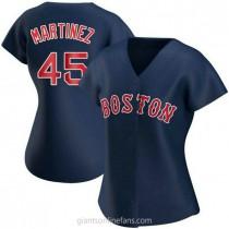 Womens Pedro Martinez Boston Red Sox #45 Authentic Navy Alternate A592 Jerseys