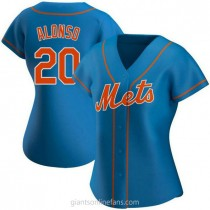 Womens Pete Alonso New York Mets #20 Authentic Royal Alternate A592 Jerseys