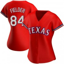 Womens Prince Fielder Texas Rangers #84 Authentic Red Alternate A592 Jersey