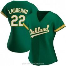 Womens Ramon Laureano Oakland Athletics #22 Authentic Green Kelly Alternate A592 Jersey