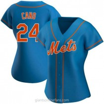Womens Robinson Cano New York Mets #24 Authentic Royal Alternate A592 Jersey