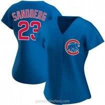 Womens Ryne Sandberg Chicago Cubs Replica Royal Alternate A592 Jersey