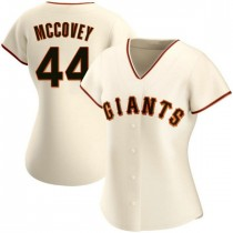 Womens San Francisco Giants #44 Willie Mccovey Replica Cream Home Jersey