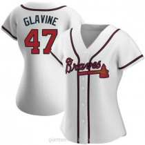 Womens Tom Glavine Atlanta Braves Authentic White Home A592 Jersey