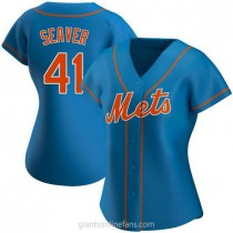 Womens Tom Seaver New York Mets Authentic Royal Alternate A592 Jersey