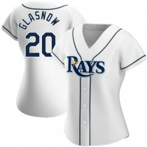 Womens Tyler Glasnow Tampa Bay Rays #20 Authentic White Home A592 Jerseys