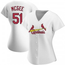 Womens Willie Mcgee St Louis Cardinals #51 White Home A592 Jersey Authentic
