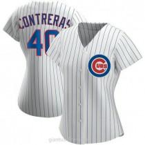 Womens Willson Contreras Chicago Cubs Replica White Home A592 Jersey