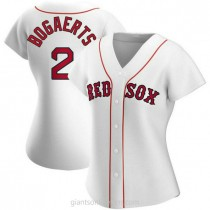 Womens Xander Bogaerts Boston Red Sox #2 Authentic White Home A592 Jerseys