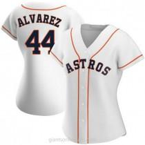 Womens Yordan Alvarez Houston Astros #44 Authentic White Home A592 Jerseys