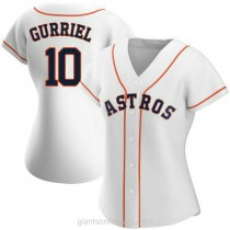 Womens Yuli Gurriel Houston Astros #10 Authentic White Home A592 Jersey