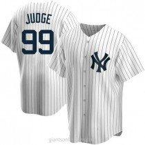 Youth Aaron Judge New York Yankees Replica White Home A592 Jersey