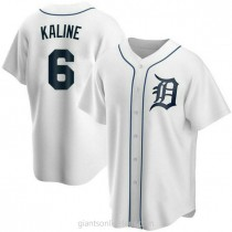 Youth Al Kaline Detroit Tigers #6 Authentic White Home A592 Jersey