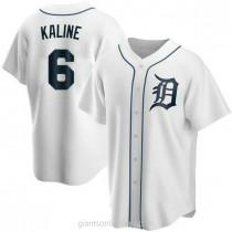 Youth Al Kaline Detroit Tigers #6 Replica White Home A592 Jersey
