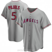 Youth Albert Pujols Los Angeles Angels Of Anaheim #5 Replica Silver Road A592 Jersey