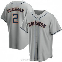Youth Alex Bregman Houston Astros #2 Authentic Gray Road A592 Jersey